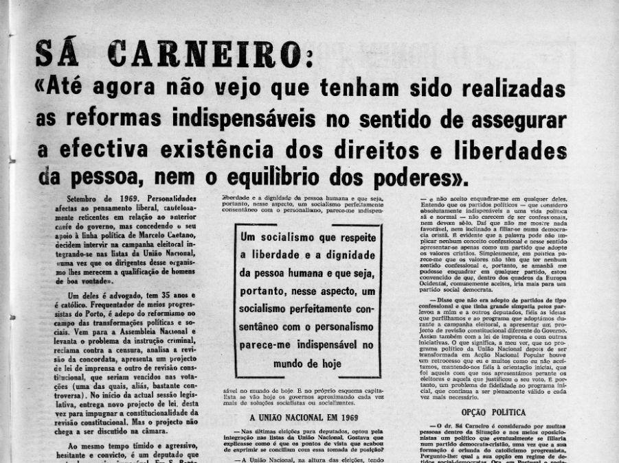 O pensamento de Francisco Sá Carneiro no combate à ditadura